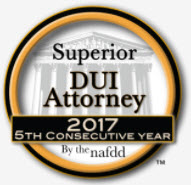 NAFDD 5th Consecutive Year DUI Attorney